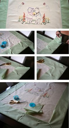 Nakışlı Bebek Battaniyesi Şablonları Kaydedin - Load Tutorial and Ideas Quilt Baby, Baby Bunting, Baby Sewing Projects, Sewing Hacks, Embroidery Patterns, Sewing Patterns, Handgemachtes Baby, Embroidered Baby Blankets, Baby Sheets
