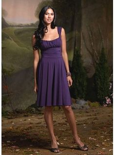 A-Line/Princess Sweetheart Knee-Length Chiffon  Charmeuse Bridesmaid Dresses With Ruffle (007004171)