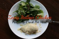 Zesty Italian Chicken - Freezer Crock Pot Meal I have another Freezer to Crock Pot meal for you guys today. I absolutely love this one! First of all, I l