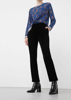 Velvet trousers   MANGO