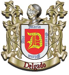 Apellido Delgado Family Shield, Family Crest, Coat Of Arms, Genealogy, Random, Abdominal Exercises, Flags, Patches, Wallpapers