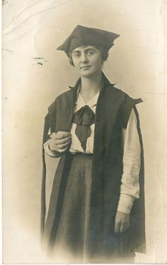 Photograph of Marjorie Abbatt nee Nora Marjorie Cobb, graduating from Oxford University, 1921