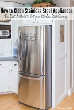 The best way to clean stainless steel appliances for a streak-free, shiny finish! // cleanandscentsible.com