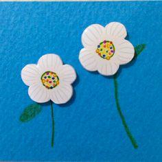 白いおはなのピアス white flower wrapping idea // ✄image