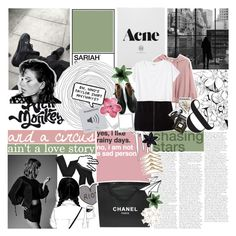 """""""SIRENS IN THE BEAT OF YOUR HEART"""" by s-erene ❤ liked on Polyvore featuring Pixie, Chicnova Fashion, MANGO, Monki, Assouline Publishing, Fogal, Chanel, Acne Studios, ASOS and sariahsoutfits"""