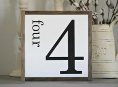 Rustic Home Decor-Rustic Numbers Sign-Farmhouse Wall Decor-Rustic Wall Sign-Framed Wall Decor-Farmhouse Home Decor-Rustic Gallery Wall Decor Diy Rustic Decor, Rustic Wood Signs, Rustic Walls, Wooden Signs, Diy Home Decor, Farmhouse Frames, Rustic Farmhouse Decor, Farmhouse Style, Rustic Gallery Wall