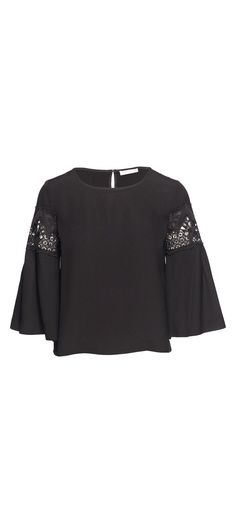 Ramy Brook Lily Long Sleeve Top in Black / Manage Products / Catalog / Magento Admin