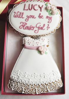 Personalised Will you be my Flower Girl Cookie by CookieArtLondon