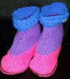 Pantoufles bottines colorées pour adulte