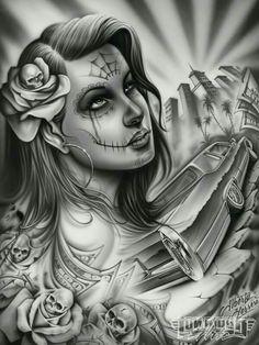 Straight up Chicano Lowrider Tattoo, Arte Lowrider, Arte Cholo, Cholo Art, Chicano Art Tattoos, Chicano Drawings, Lowrider Drawings, Badass Drawings, Beautiful Drawings