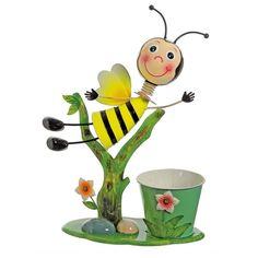 17 Bee Flying Over Flowers Decorative Spring Outdoor Garden Planter, Green #32021270, Outdoor Décor