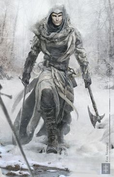 Assassins Creed - Snow Edition by EVentrue armor clothes clothing fashion player character npc | Create your own roleplaying game material w/ RPG Bard: www.rpgbard.com | Writing inspiration for Dungeons and Dragons DND D&D Pathfinder PFRPG Warhammer 40k Star Wars Shadowrun Call of Cthulhu Lord of the Rings LoTR + d20 fantasy science fiction scifi horror design | Not Trusty Sword art: click artwork for source