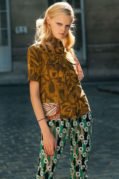 Hanne Gaby Odiele (2011) with a Dries Van Noten top and Balenciaga pants.