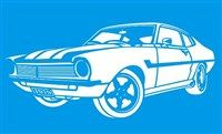 Stencil de Carro Antigo 21 x 34cm - ST-043