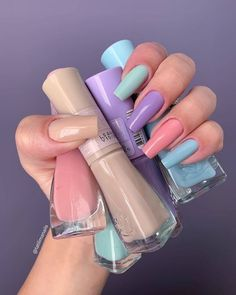 5 Nail Trends To Watch Out For This Summer – Nails art Summer Acrylic Nails, Best Acrylic Nails, Summer Nails, Spring Nails, Stylish Nails, Trendy Nails, Swag Nails, My Nails, Glitter Nails