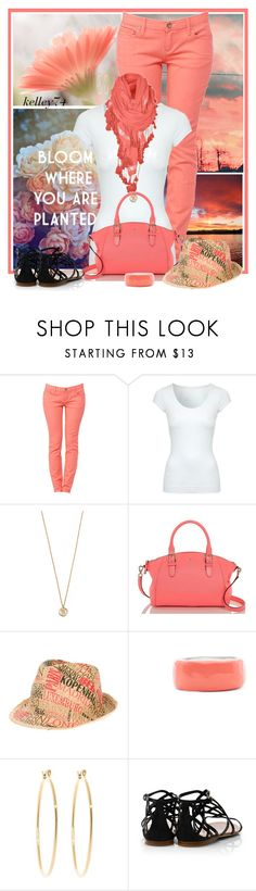 """""""Coral Kate (Spade)"""" by kelley74 ❤ liked on Polyvore featuring Jane Norman, Samantha Wills, Kate Spade, Le Chapeau by Alakazia, Ultimate, Jaclyn Mayer, Brooks Brothers and Tory Burch"""