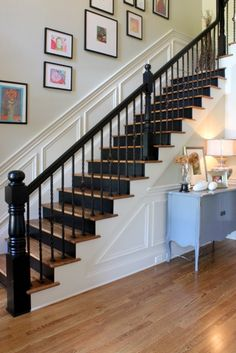 Painted stairs  black