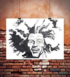 Poster Bob Marley, reggae ska rocksteady singer