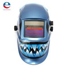 New PP Pro WELDING/Grinding Helmet  Auto Darkening Mig Tig Arc Mask Blue Dink Ultra Light Designing Free Shipping