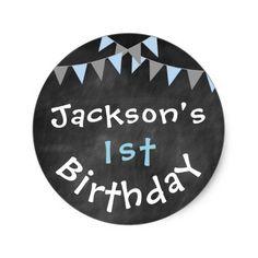 Chalkboard Birthday Sticker- Bday Labels
