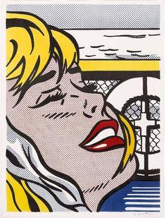 ROY LICHTENSTEIN - SHIPBOARD GIRL (CORLETT II.6) - GALERIE FLUEGEL-RONCAK  http://www.widewalls.ch/artwork/roy-lichtenstein/shipboard-girl-corlett-ii-6/ #Print