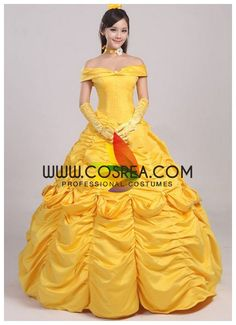 Beauty And Beast Princess Belle Classic Cosplay Costume