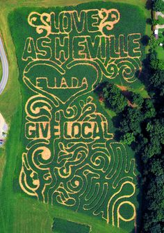 Corn Maze in Asheville, NC, supporting local businesses - at Eliada Homes