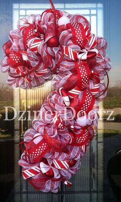 Image result for candy cane wreath