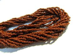 Cut Beads 13/0 Charlottes Brown Glass by FeelingstoneGiftsLLC