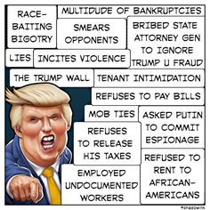 """His """"Record"""" (recorded history) Speaks for Itself. #NotMyPresident ~ #TheResistance ~ #NeverNormalizeTrump ~ www.RefuseFascism.org ~ www.IndivisibleGuide.com"""