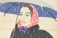 Alex Katz: Blue Umbrella, 1979 Lithograph