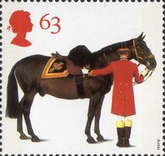 'All The Queens Horses'. 50th Anniversary of the British Horse Society 63p Stamp (1997) Duke of Edinburgh's Horse and Groom