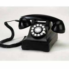 Retro Black Desk Phone Classic retro style desk phone is fantastic for home or office. The early style combined with modern features makes this telephone a decorative must have item for your home or office.