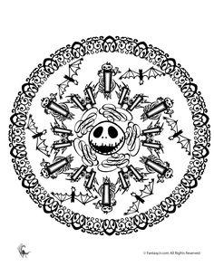 Halloween Mandala Coloring Pages Jack Skellington Halloween Mandala – Fantasy Jr.