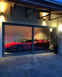 Perfect garage Source by oleglukianoff Pole Barn Garage, Garage House, Dream Garage, Car Garage, Luxury Boat, Luxury Cars, Design Garage, House Design, Supercars