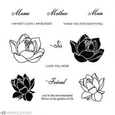 Mama Elephant - Clear Stamp Set - Lovely Mums