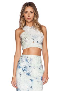 Hunter Bell Hunter Bell Marcy Crop Top in Mint Juley