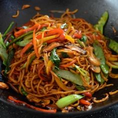 Vegetable Lo Mein - healthy, authentic, and SO MUCH BETTER than takeout!