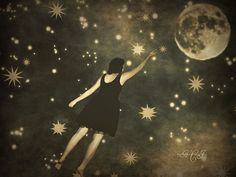 Up in the Stars.....Momma reaching for her darling Moon.....