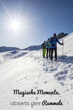 Auf leisen Sohlen durch den Schnee wandern, die Natur erleben und die Berglandschaft bestaunen! #kleinwalsertal #visitvorarlberg Mount Everest, Cold, Mountains, Happy, Nature, Travel, Outdoor, Ski Trips, Winter Vacations