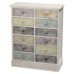 Perfect for de-cluttering your bathroom or storing out-the-door essentials in your hallway, this fir wood chest features a white finish and twelve drawers in...