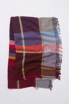 $199.95 Loomed Plaid Throw #anthropologie