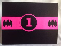 Batman or batgirl birthday party invitations https://www.etsy.com/listing/191168958/batgirl-party-invitations-batgirl-1st