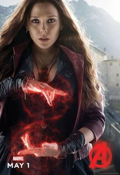 We chat with Elizabeth Olsen on the set of 'Avengers: Age of Ultron' about the Marvel Cinematic Universe's version of the Scarlet Witch. Marvel Avengers, Marvel Comics, Ms Marvel, Wanda Marvel, Avengers Images, Marvel Heroes, Avengers Pictures, Scarlet Witch Marvel, Scarlet Witch Costume