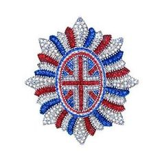 Butler and Wilson Union Jack Military Brooch