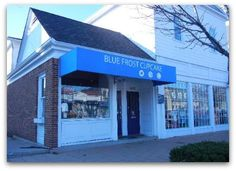 First Friday in Worthington Blue Frost Cupcake #shopping #Worthington #FirstFriday