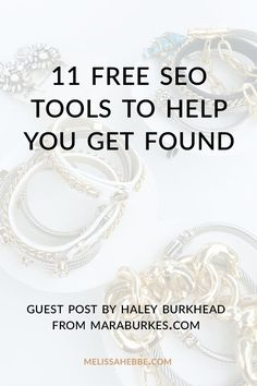 Looking to get your boutique or shop's website and products found online? Then you need to checkout these 11 free SEO tools that will your boutique and shop get discovered on the internet. Written by my friend Haley Burkhead from maraburkes.com.