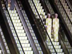 Escalators at Louis Vuitton Spring/Summer 2013