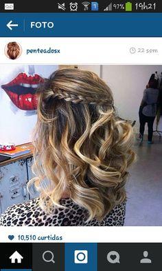 Penteado cabelo medio