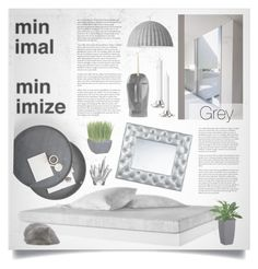 """Minimal Grey"" by retrocat1 ❤ liked on Polyvore featuring interior, interiors, interior design, home, home decor, interior decorating, Kelly Wearstler, Muuto and Simon Pearce"